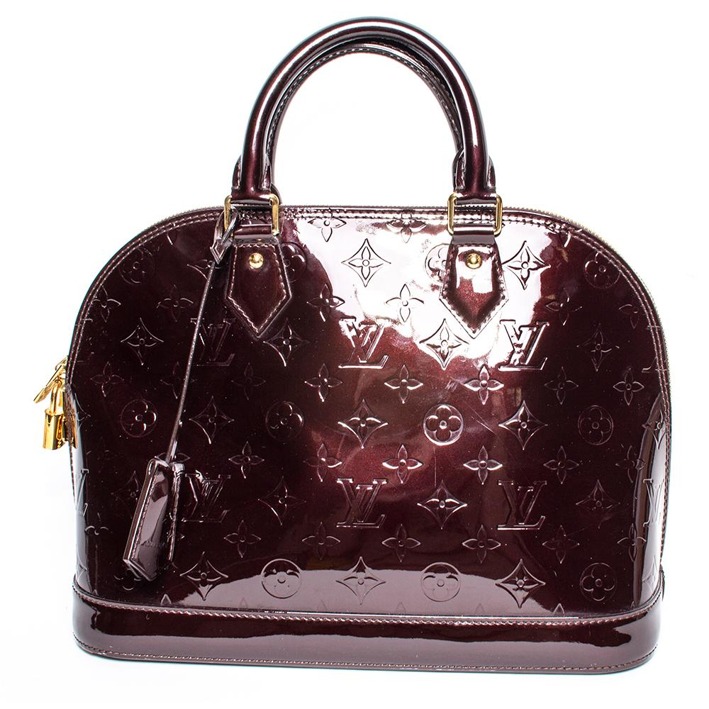 Louis Vuitton Burgundy Amarante Vernis Alma Pm Bag