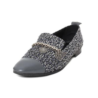 Chanel Size 39 Tweed Flats