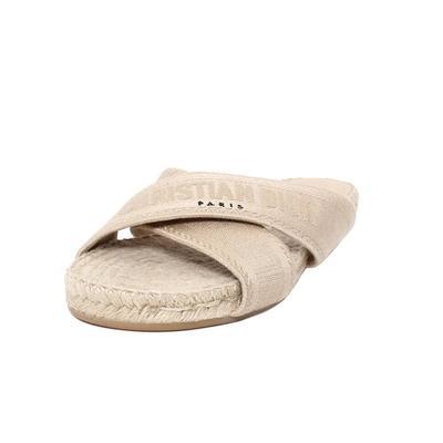 Christian Dior Size 38.5 Espadrille Sandal