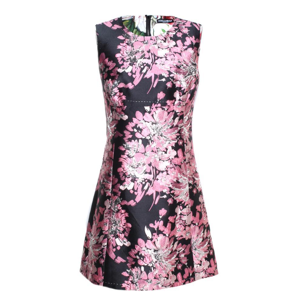 Dolce & Gabbana Size 46 Floral Print Dress