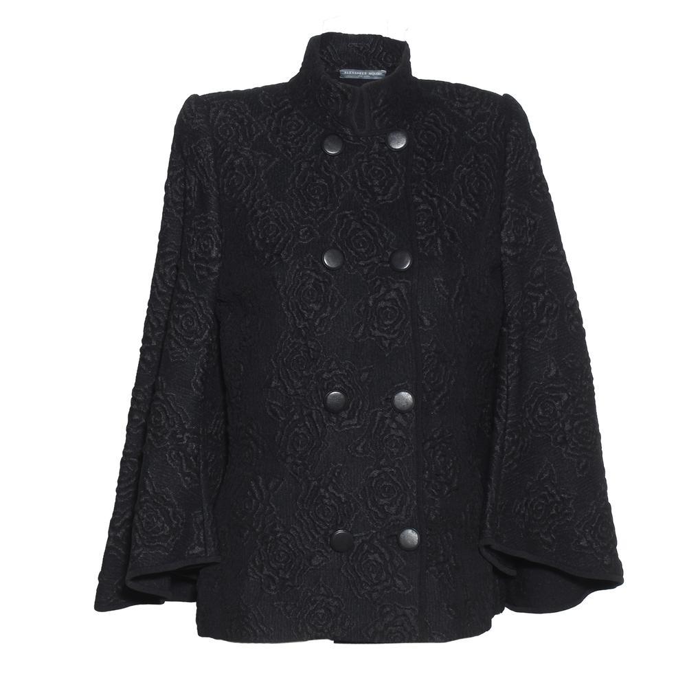 Alexander Mcqueen Size Medium Rose Textured Jacket