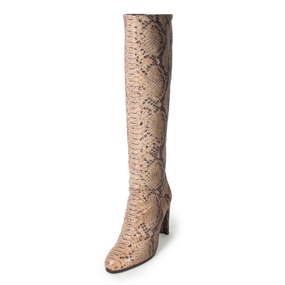 Stuart Weitzman Size 9.5 Snake Print Knee- High Boots