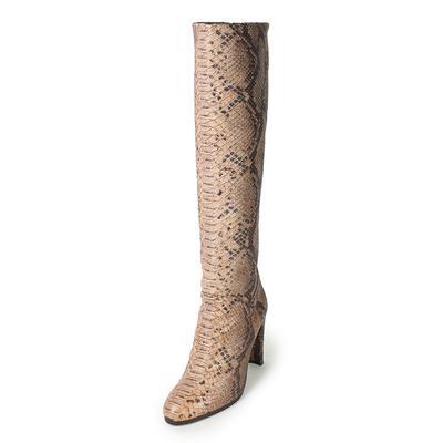 Stuart Weitzman Size 9.5 Snake Print Knee-High Boots