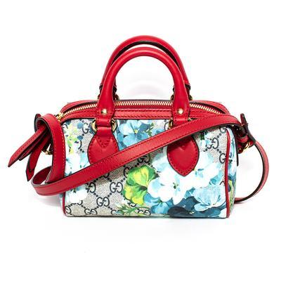 Gucci Red Bloom Mini Boston Crossbody Bag