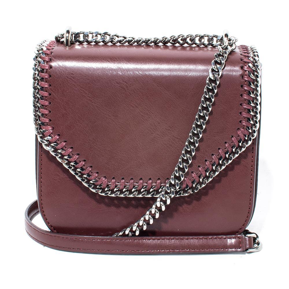 Stella Mccartney Burgundy Falabella Mini Shoulder Bag