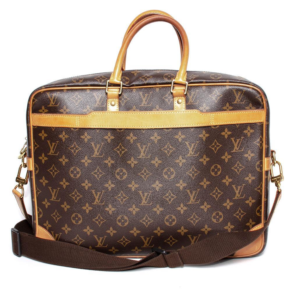 Louis Vuitton Brown Mono Porte Documents Voyage Bag