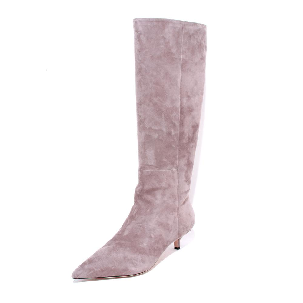 Veronica Beard Size 10 Grey Kitten Heel Knee High Boots