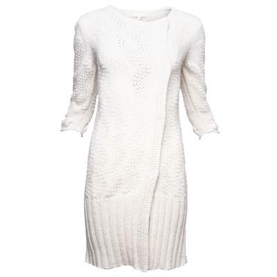 Escada Size Small White Wool Knit Coat