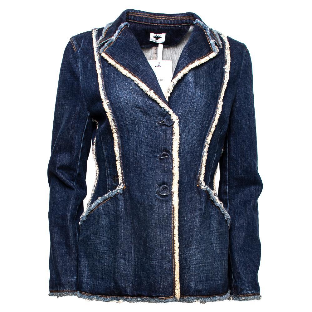 Christian Dior Size 40 Blue Denim Jacket