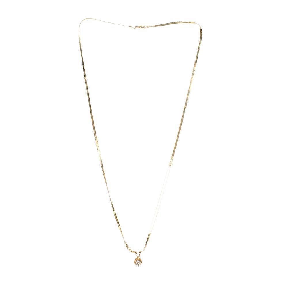 10kyg Diamond Flower Necklace