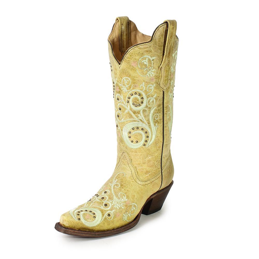 Corral Size 6.5 Floral Cowboy Boots