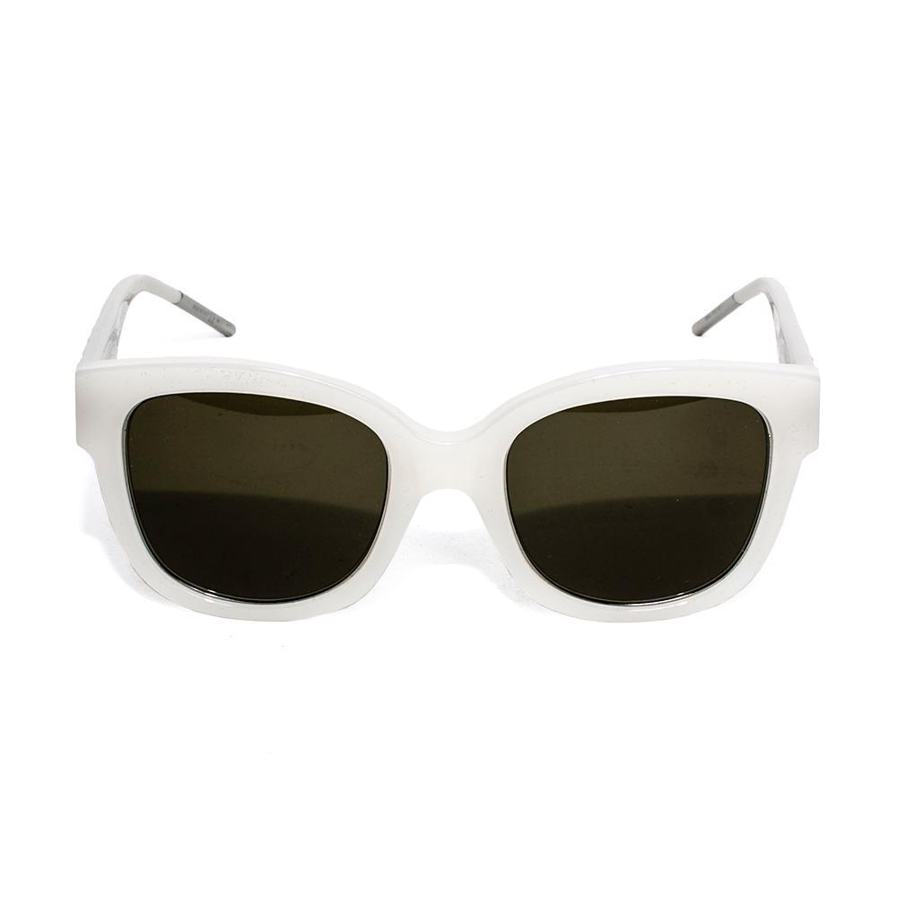 Christian Dior White Plastic Square Sunglasses