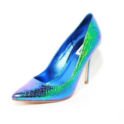 Dune Size 39 Iridescent Blue Leather High Heels