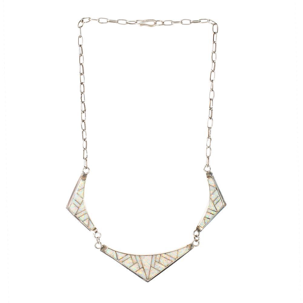J Josytewa Zuni Opal Necklace