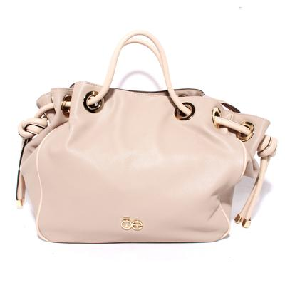 Chloe Beige Pebbled Leather Handbag