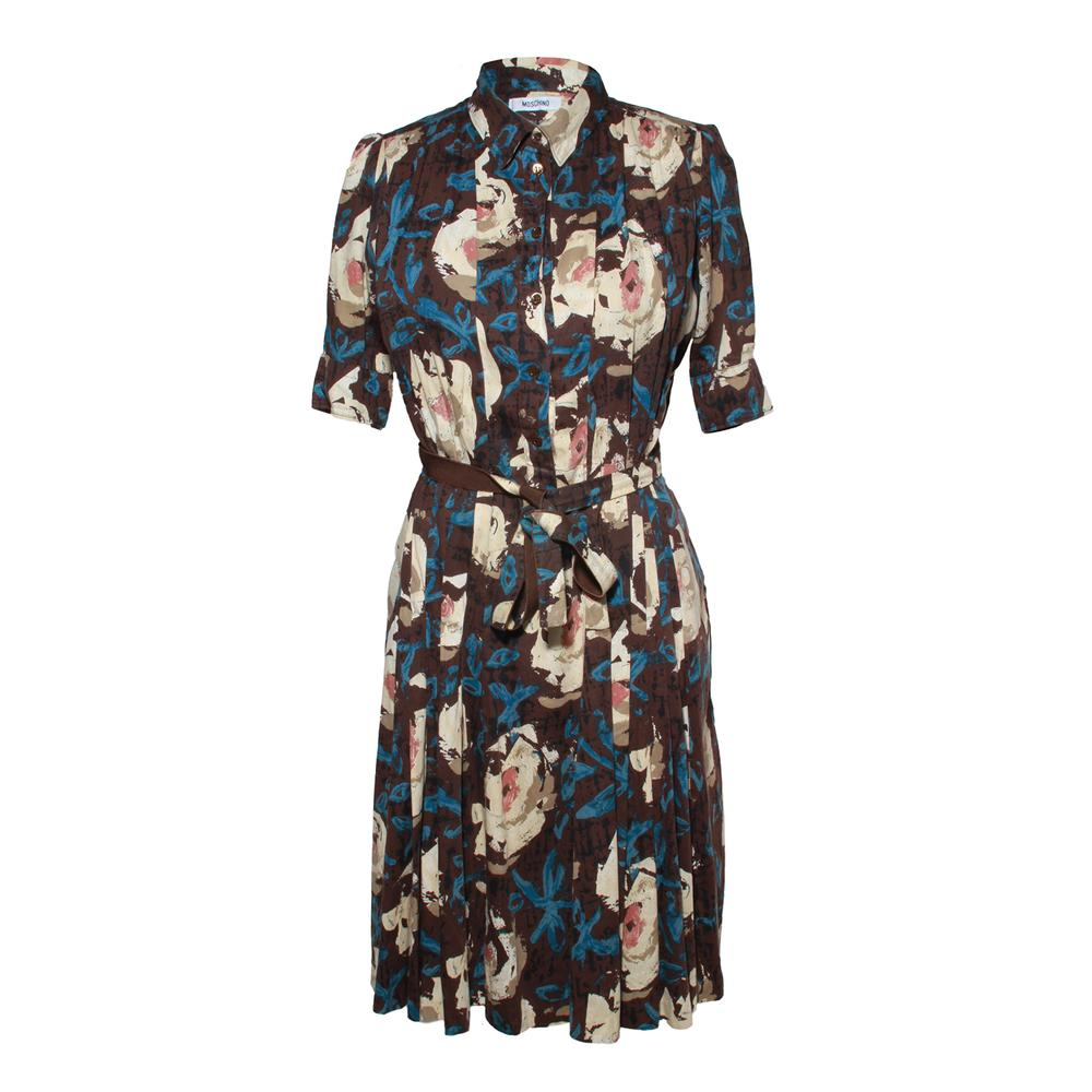 Moschino Size 6 Brown Cotton Dress