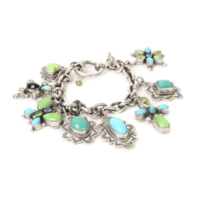 Leo Feeney Multi Stone Charm Bracelet