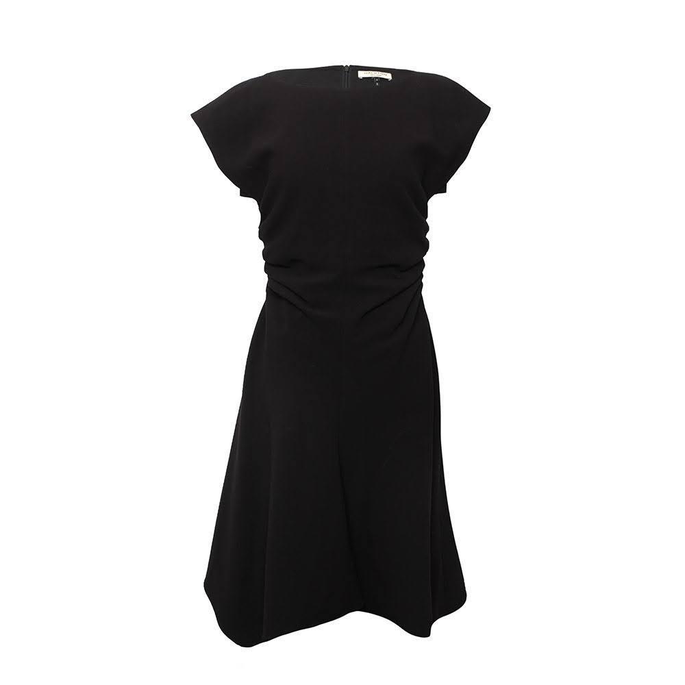Halston Size 6 Black Cocktail Dress