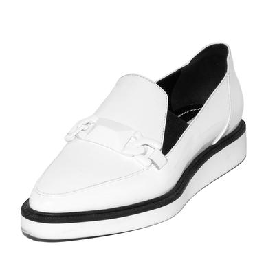 Max Mara Size 7.5 White Patent Loafers