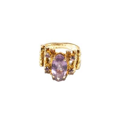 14K Gold Size 7 Amethyst Ring
