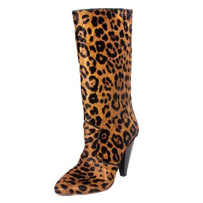 Veronica Beard Size 37 Brown Olivia Calf Hair Boots