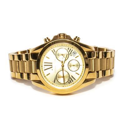 Michael Kors Gold Tone Bradshaw Chronograph Watch