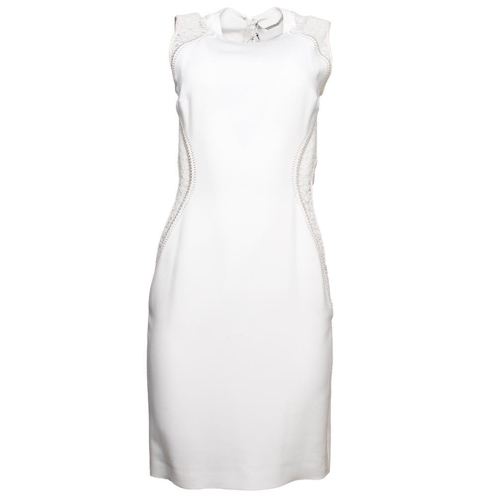 Stella Mccartney Size 40 White Short Dress