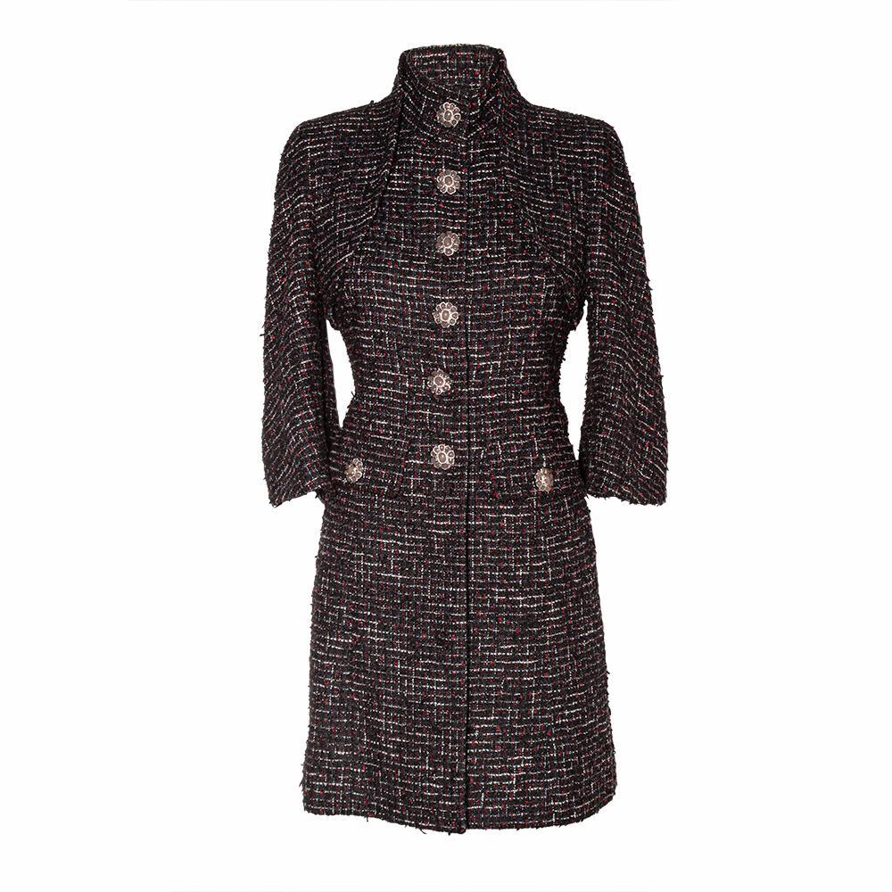 Chanel Size 36 Dubai Collection Tweed Coat