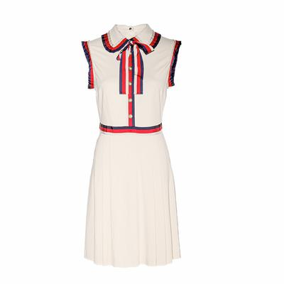 Gucci Size Medium Red, Blue, & Off-White Short Dress