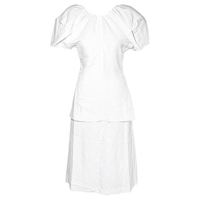 Celine Size 36 White Blouse and Skirt