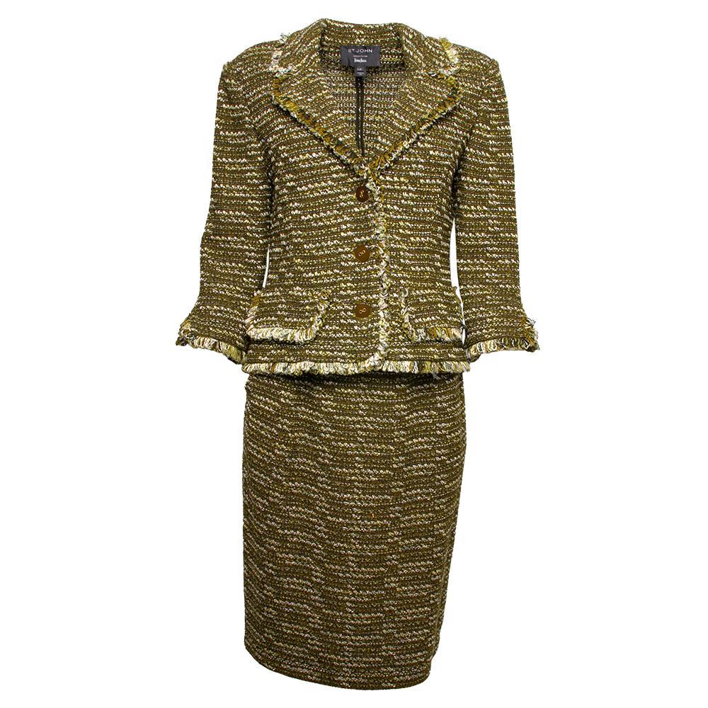 St.John Size 2 Two- Piece Suit & Skirt