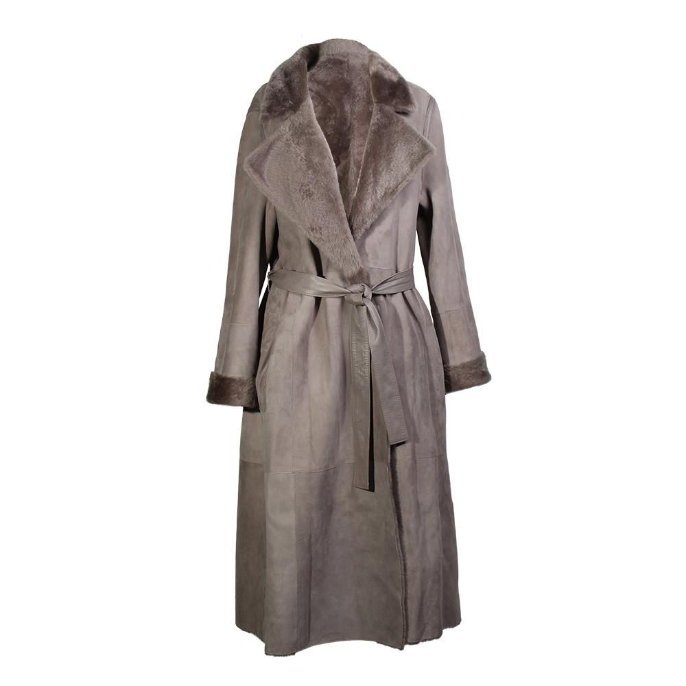 Yves Size 36 Salomon Lamb Fur Coat