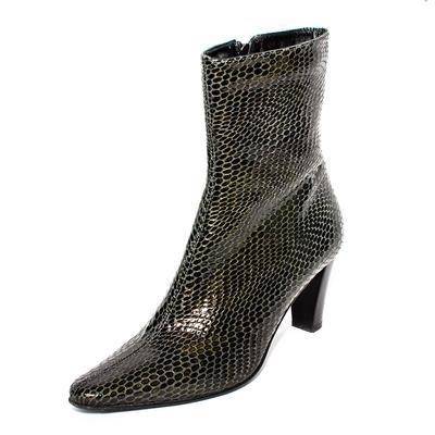 Aquatalia Size 8 Green Snakeskin Boots