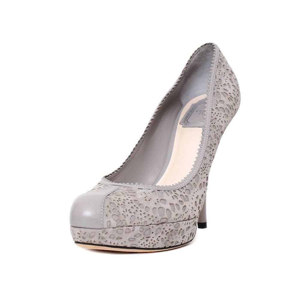 Christian Dior Size 38.5 Grey Heels