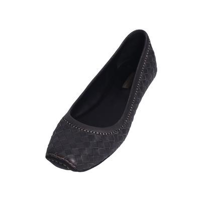 Bottega Veneta Size 39.5 Woven Flats