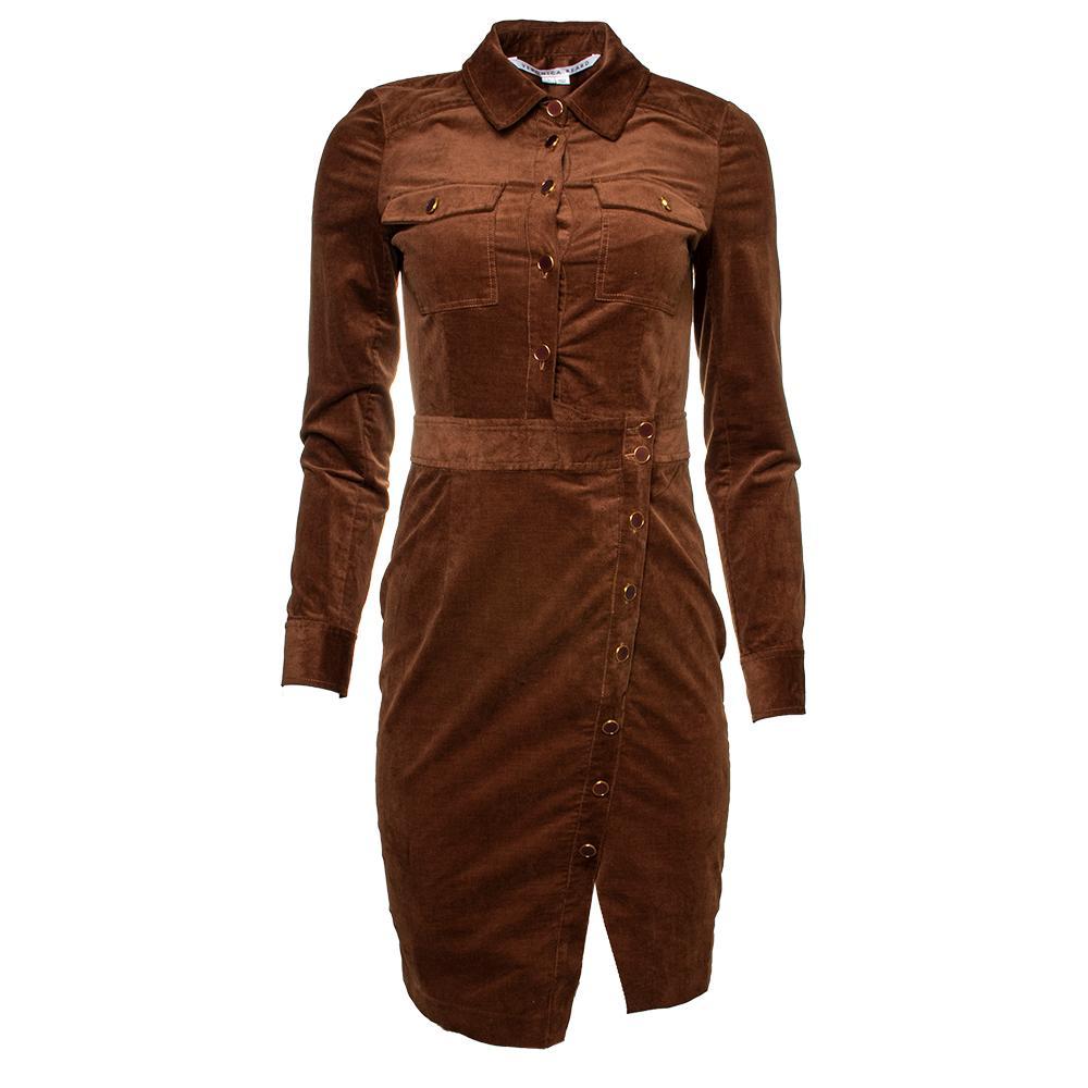 Veronica Beard Size 0 Brown Corduroy Dress