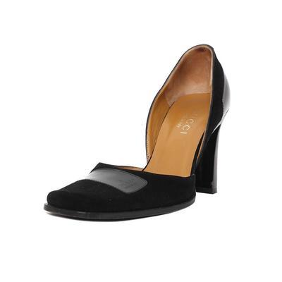 Gucci Size 36 Black Suede Heels