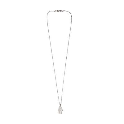 15K White Gold Diamond Necklace