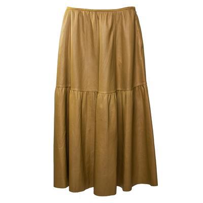 Lafayette 148 Size 10 Seagrass Green Lambskin Skirt