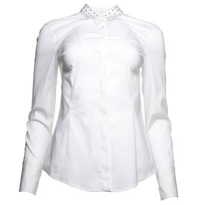 Brunello Cucinelli Size Medium White Studded Collar Shirt