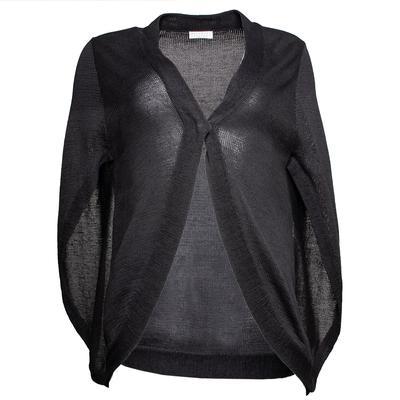 Brunello Cucinelli Size 6 Grey Knit Shawl
