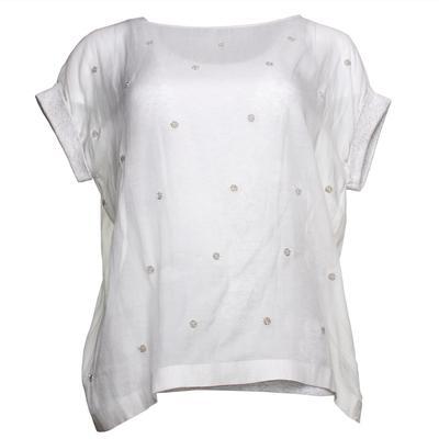 Brunello Cucinelli Size Medium Grey Tank & Sheer Shirt