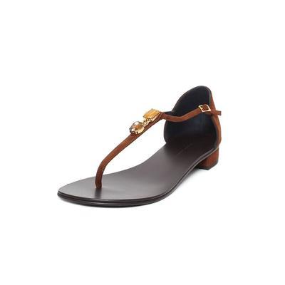 Giuseppe Zanotti Stars 38.5 Suede Gem Sandals