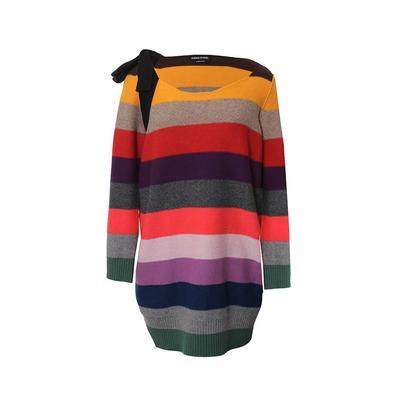 Sonia Rykiel Size Medium Striped Sweater Dress