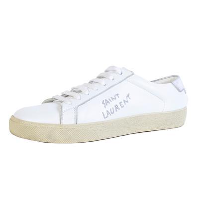 Saint Laurent Size 35.5 White Sneaker