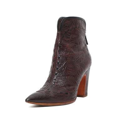 Santoni Size 36 Brown Embossed Boots