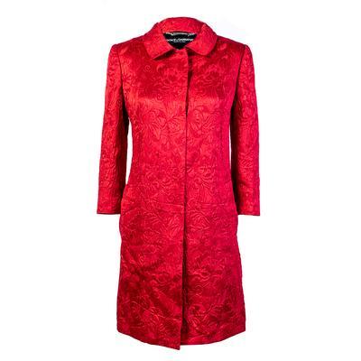 Dolce & Gabbana Size 42 Red Coat