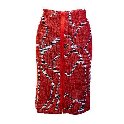 Missoni Size 40 Red Skirt