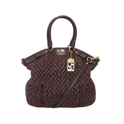 Coach Brown Quilt Handbag