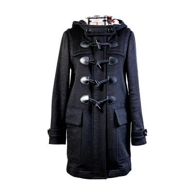 Burberry Size Small Black Jacket Coat